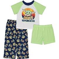 STAR WARS Boys' Mandalorian Pajama Set, Force with You