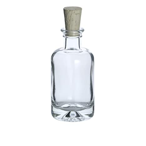 8 pieza Botella de cristal farmacia 100 ml, incluye corcho)