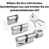 Schließzylinder für gleichschließendes SET / Längen frei kombinierbar Doppelzylinder A:35mm B:50mm