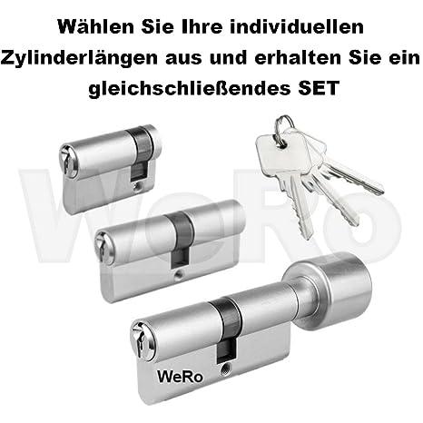 Doppel-Profilzylinder Schließzylinder in vers BKS Profilzylinder PZ 88 Größen