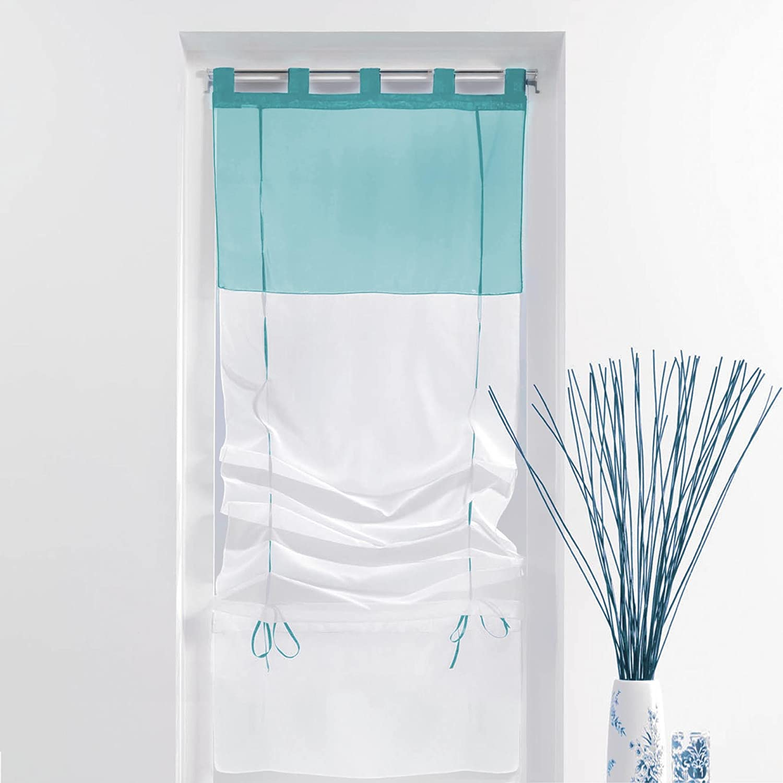 DOUCEUR D'INTERIEUR 60/180 cm Viole Bicol Tende tapparella Bianco/Blu. DOUCEUR D' INTERIEUR 1623805