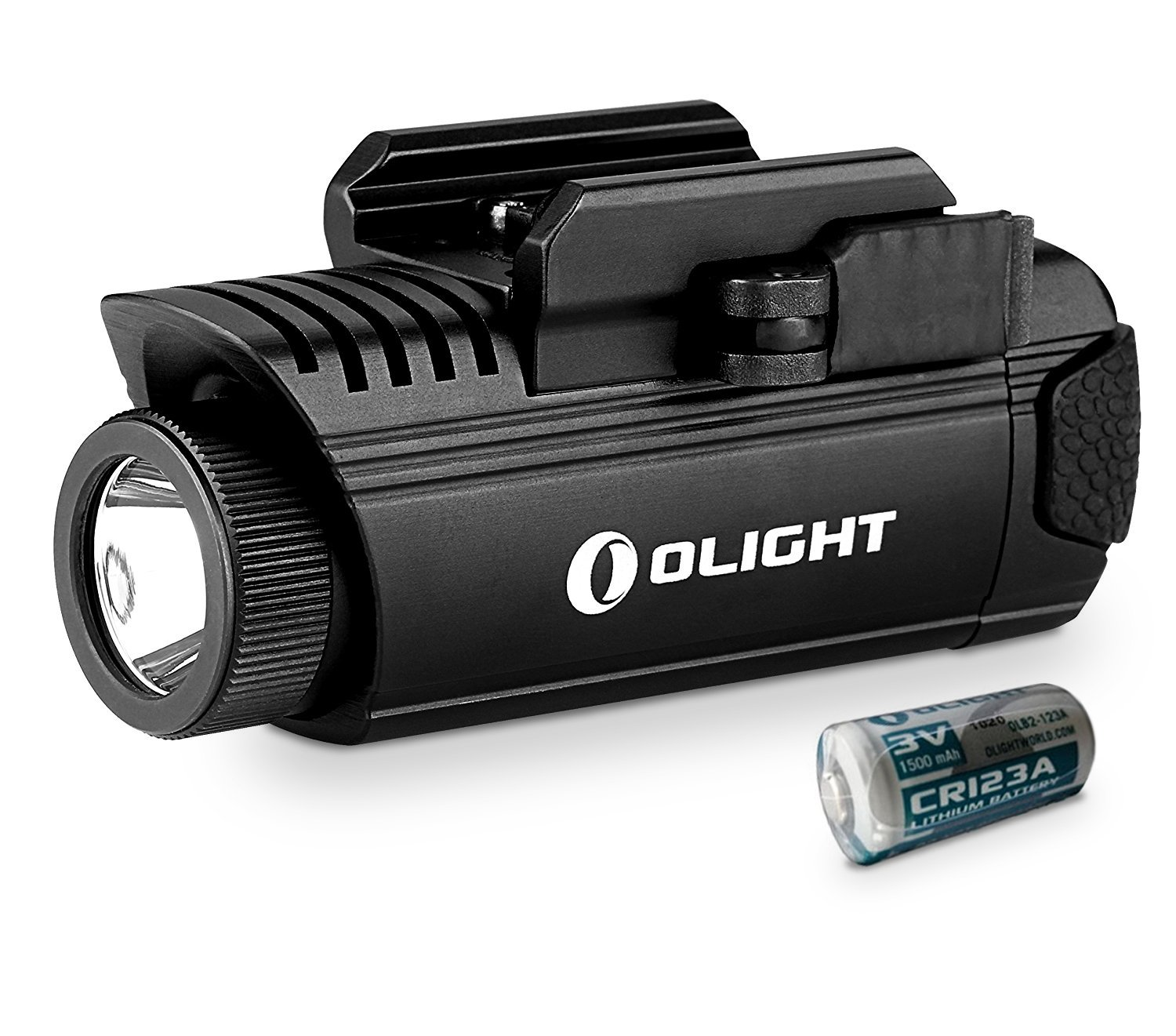 Olight PL-1 II Valkyrie 450 Lumens LED Tactical Weapon Light with 1600mAh CR123A Battery, Anti-Reflective and IPX6 Waterproof