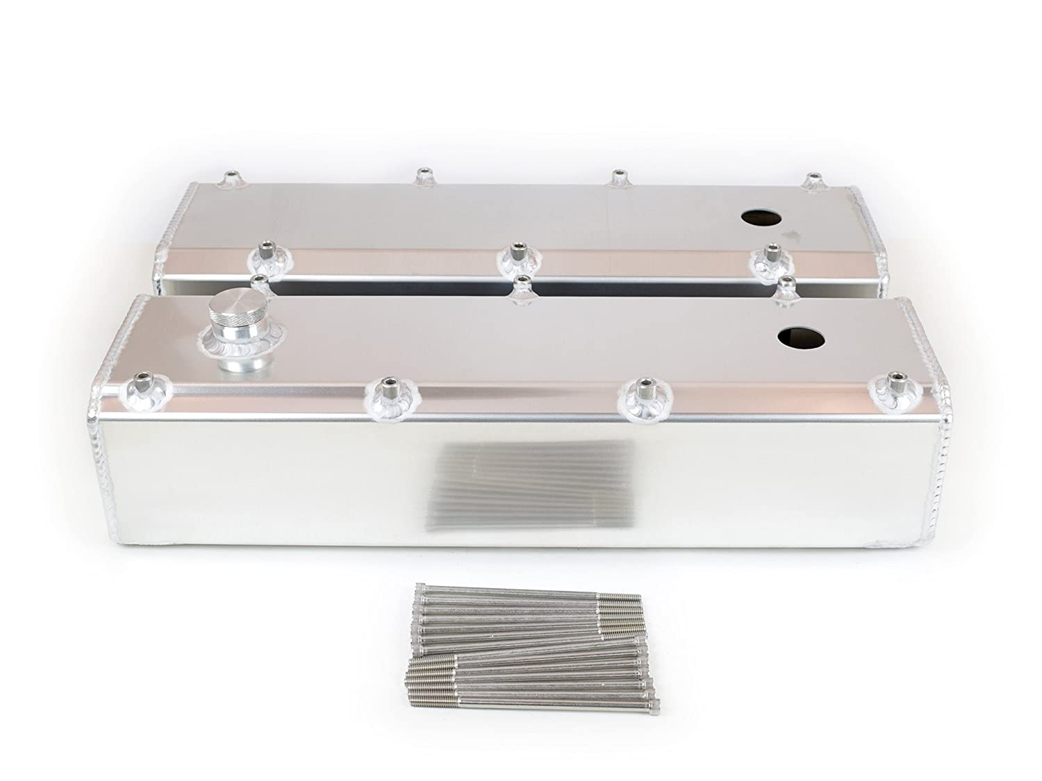 Canton Racing 65-386 Valve Cover Big Block Ford 429//460 Fab Alum with Fill and PCV Port