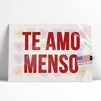 Amazon Com Neonblond Large Poster Te Amo Menso Valentine S Day
