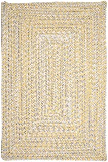 product image for Colonial Mills Ocean's Edge Braided Outdoor Rug Sun Streak 2' x 3' 2' x 3' Silver, White, Yellow Rectangle