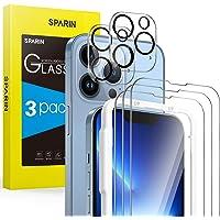SPARIN 5 stycken pansarglas kompatibelt med iPhone 13 Pro 6,1 tum, 3 stycken skyddsfolie och 2 stycken…
