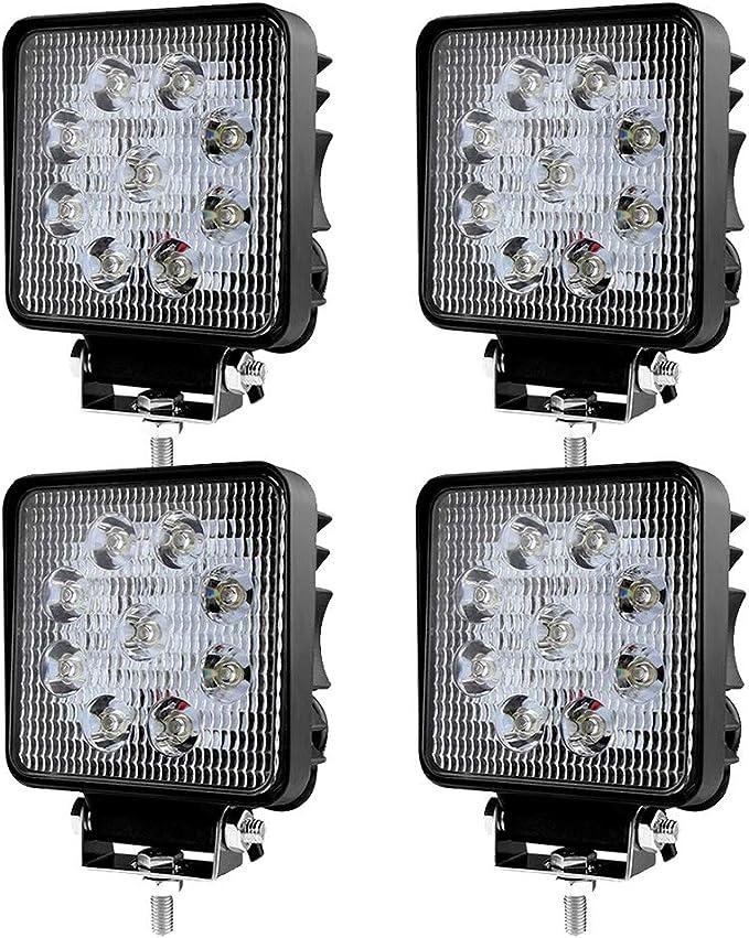 Led Scheinwerfer Arbeitsscheinwerfer Arbeitslicht Suv Offroad Ip67 Reflektor Rückfahrscheinwerfer Atv Utv Offroad Traktor Lkw 4 Pcs 27w Auto
