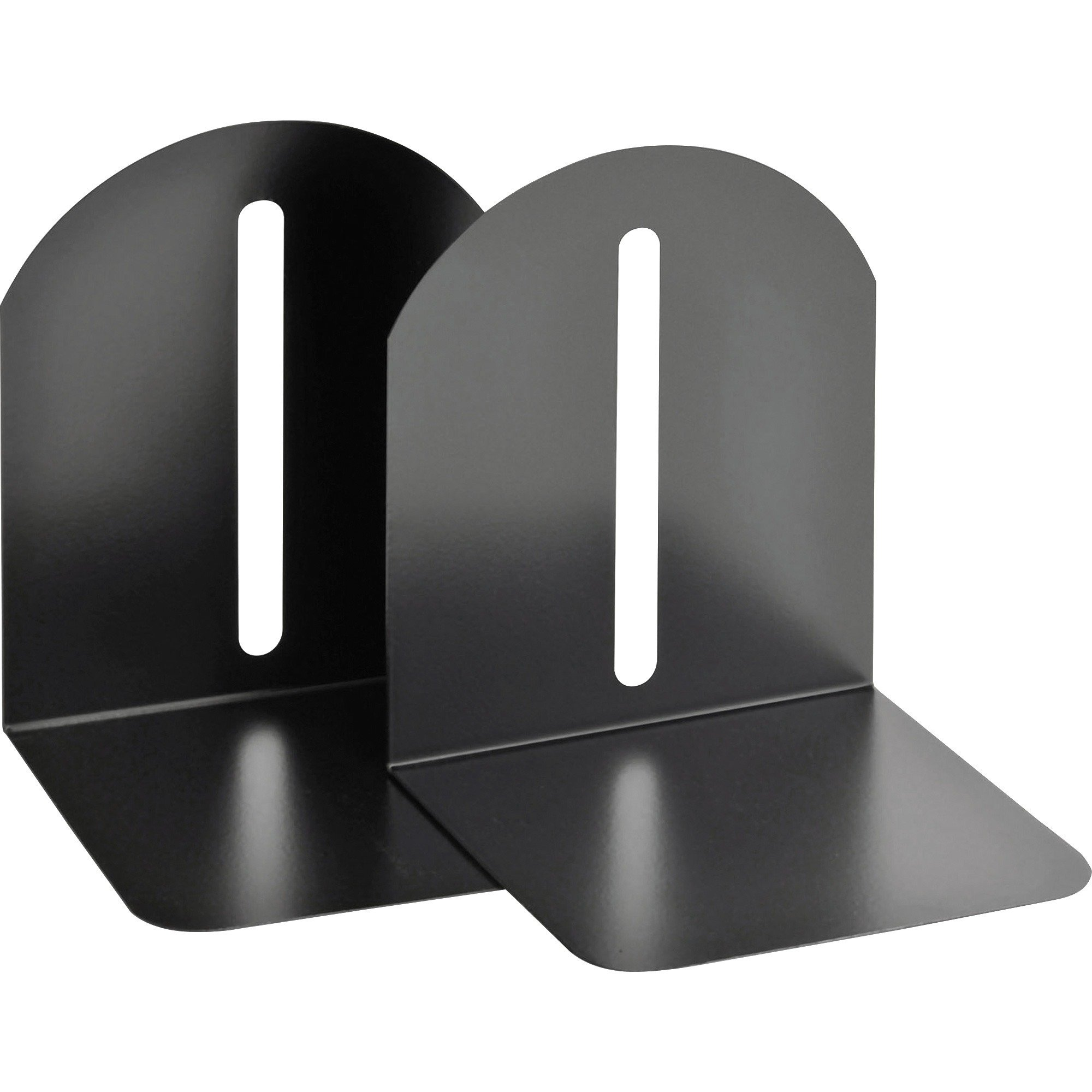 MMF Industries 241017204 Fashion Bookends, Magnetic, Steel, 5-9/10-Inch x5-Inch x7-Inch, Black