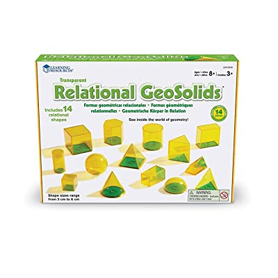 Learning Resources Relational Geometric Solids : Learning And Development Toys : Office Products