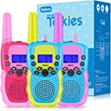 Selieve Walkie Talkies for Kids 3 Pack, Toys for 3-12 Year Old Boys or Girls, 3 KM Range Indoor Outdoor Activity Stem Toys, G