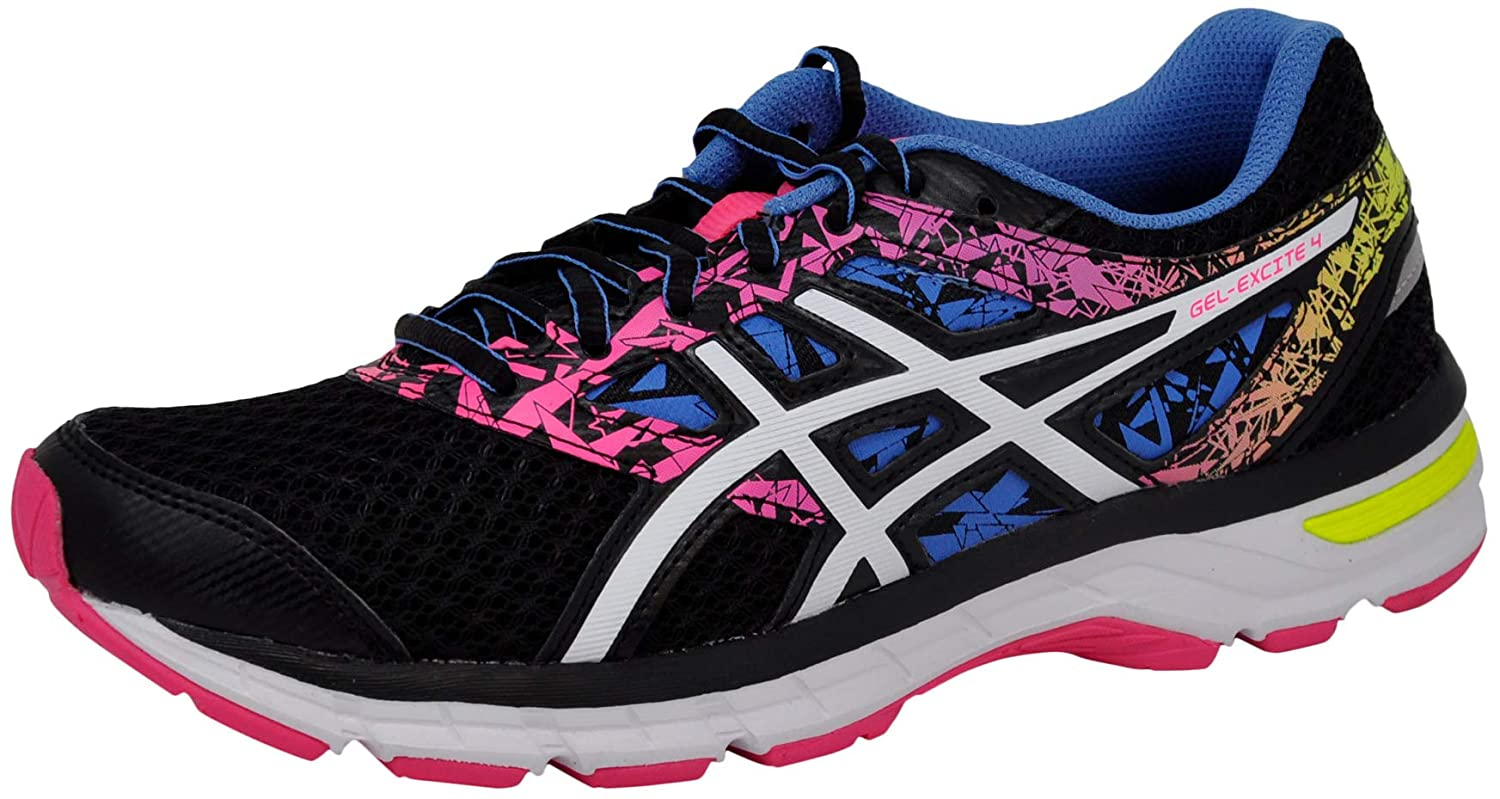 Black White Knockout Pink ASICS Women's Gel-Excite 4 Running shoes