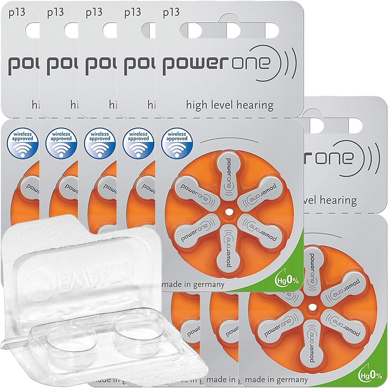 60x Varta Power One 13 Hörgerätebatterien 10x6er Blister Pr48 Orange 24606 Aufbewahrungsbox Für 2 Hörgerätebatterien 10 13 312 675 Batteriebox Für 2 Knopfzellen Bis 12 Mm X 6 Mm Ø X H Drogerie Körperpflege
