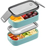 Bento Box For Adults Kids - 1600ML All-in-One Stackable Premium Japanese Bento Lunch Box Container With Utensil, Durable Leak
