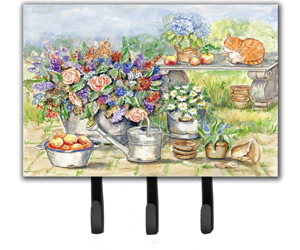 Carolines Treasures Patio Bouquet and Cat Leash or Key Holder APH3567TH68 Triple Multicolor