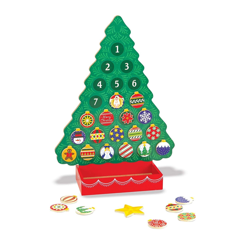 25 Magnets Melissa and Doug 9327 Melissa /& Doug Wooden Advent Calendar Magnetic Christmas Tree