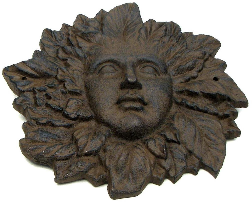 Best Quality Large Rust Cast Iron Woman Face Home Garden Pool Decor