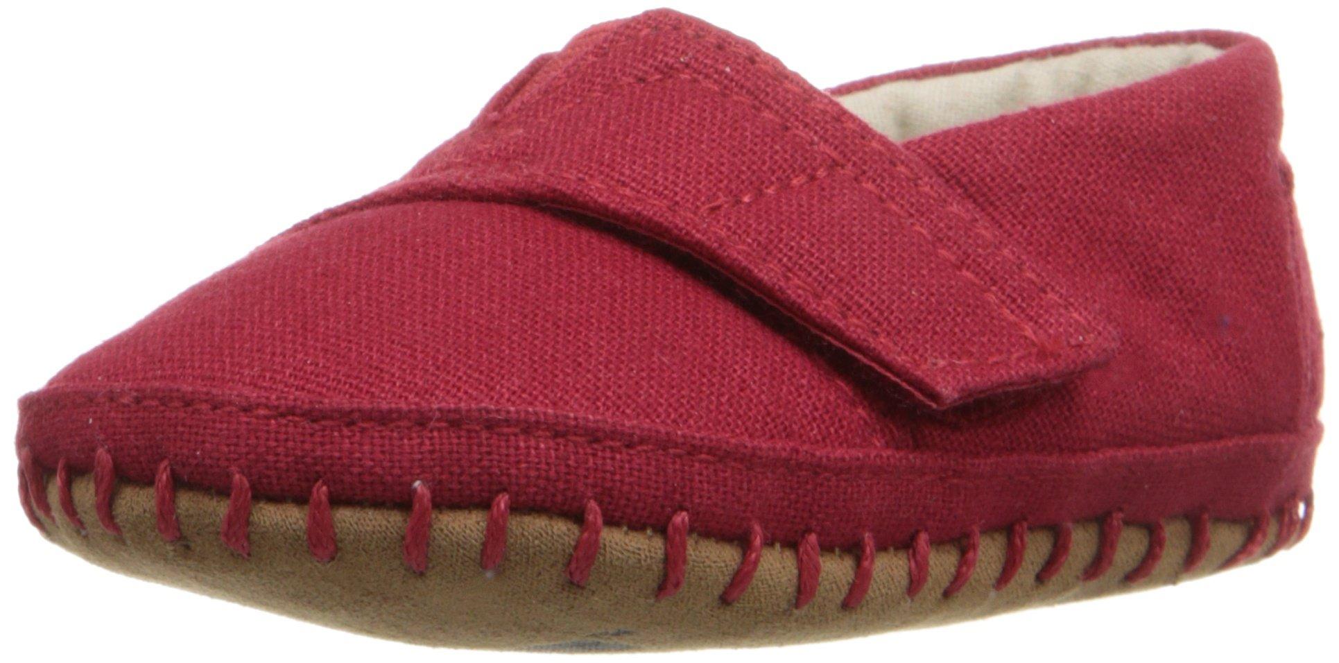 TOMS Unisex 10007646 Alpargata Crib Shoe, Red, 4 M US Toddler