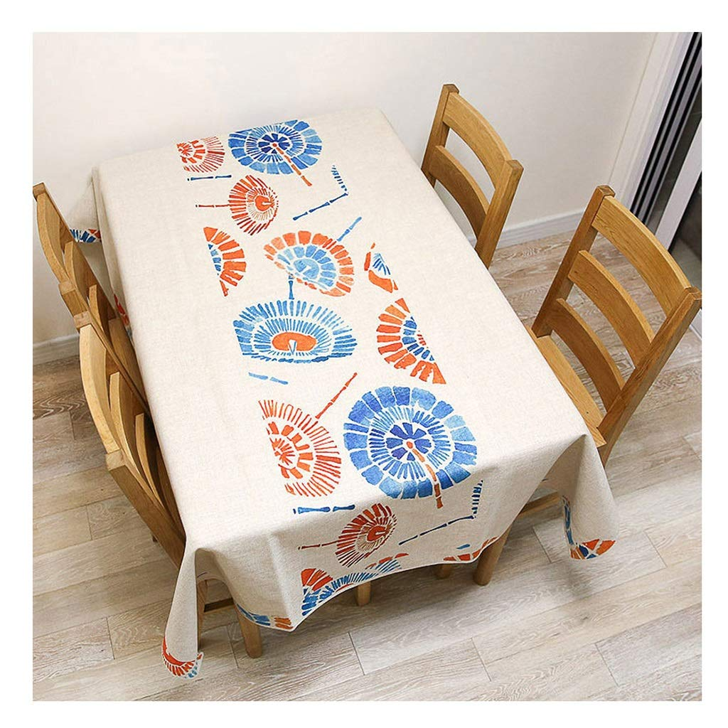 ラウンドテーブルクロス 綿および麻の風のテーブルクロス、塗られた簡単な長方形のテーブルクロスのコーヒーテーブルTVのキャビネットの布 テーブルクロス (サイズ さいず : 140×230cm) 140×230cm  B07RWYYQX5
