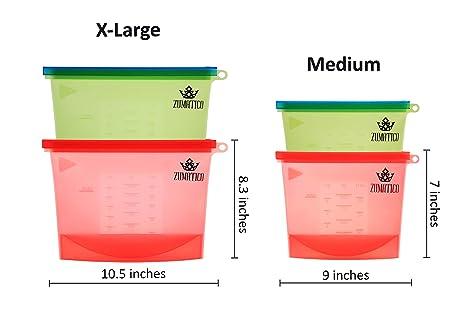 Amazon.com: Zumatico - Bolsas de silicona reutilizables para ...