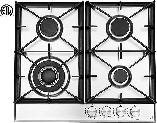 Ramblewood High Efficiency 4 Burner Natural Gas Cooktop GC4-50N