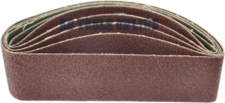 Belt Power Finger File Sander Abrasive Sanding Belts 305mm x 40mm 80 Grit 5 PK