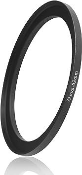 adattatore per filtro fotocamera Fujifilm Nikon anello per fotocamera Sony compatibile con obiettivi di tutti i produttori come Canon Anello Step Up /Ø 58 a 62 mm di diametro