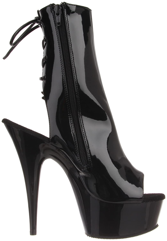 Pleaser Women's Delight-1018/B/M Boot B0025WH3VK 8 B(M) US|Black Patent