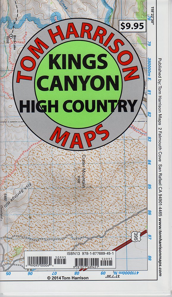Download Kings Canyon High Country Trail Map (Tom Harrison Maps) PDF