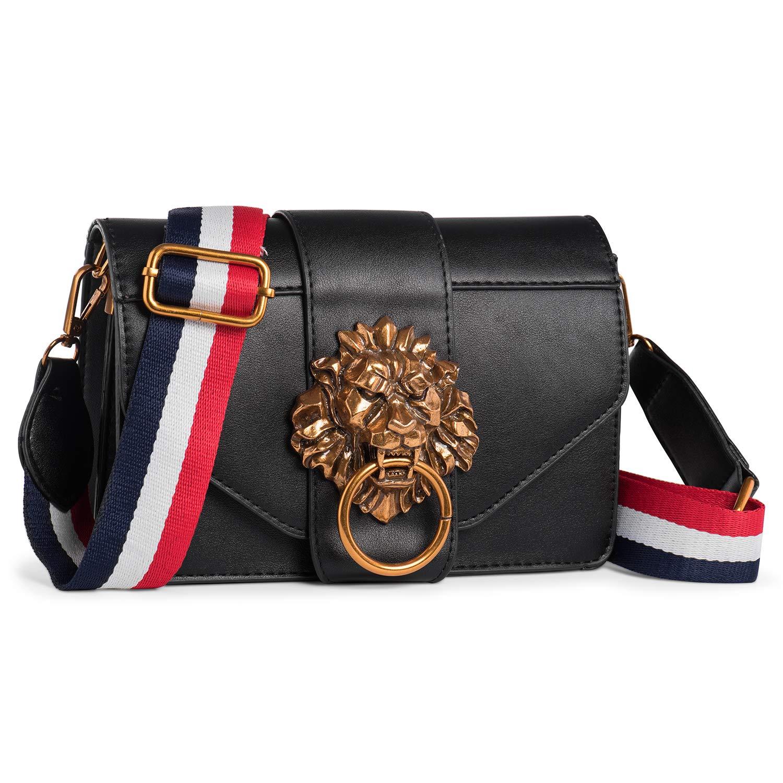 3332f9cacdf8 Womens Shoulder Lion Fashion PU Leather Handbag for Women