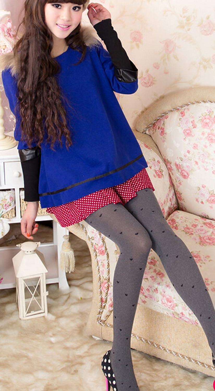 Freedi Women Girls Velvet Jacquard Weave Pantyhose Stockings Leggings CN412