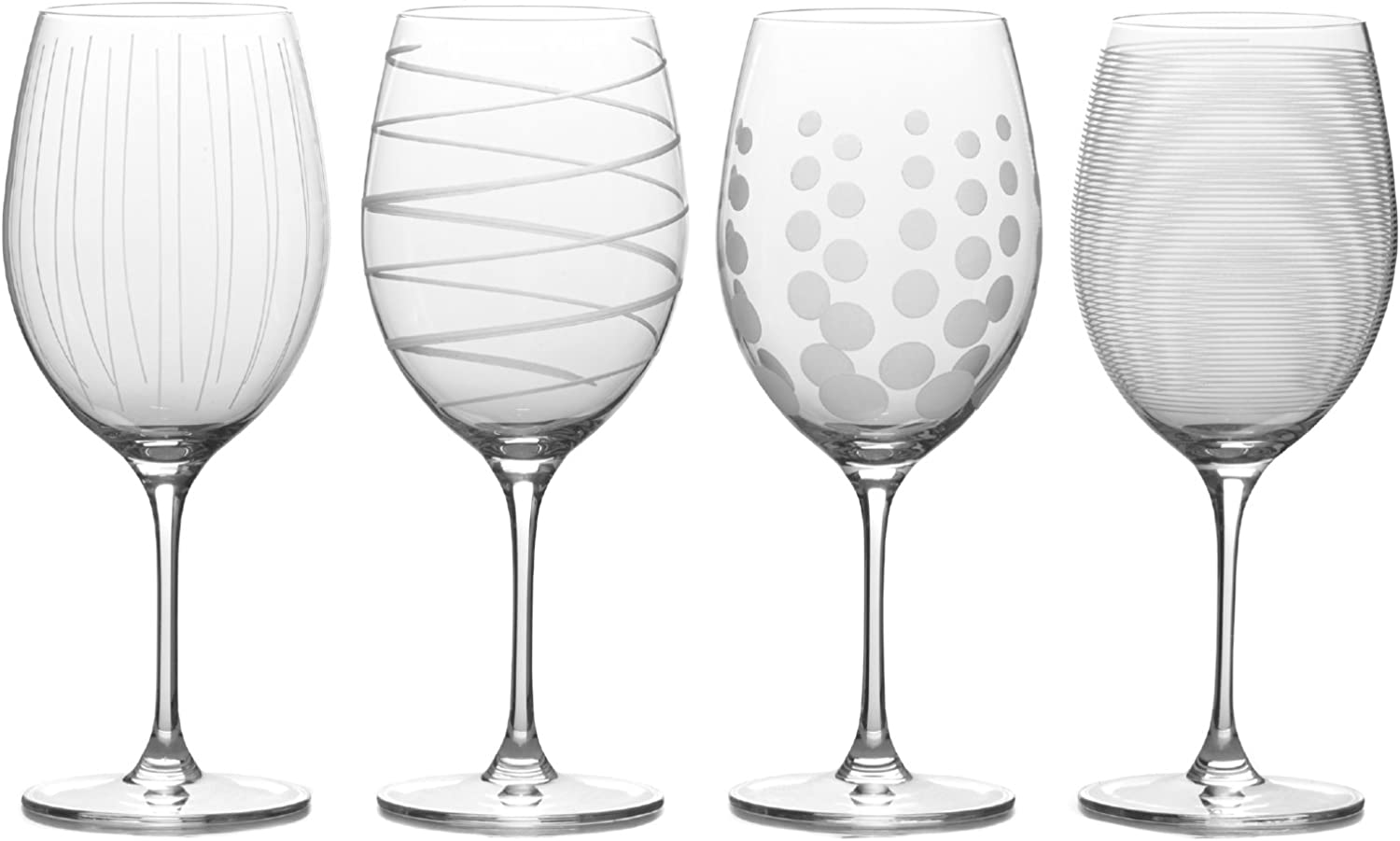 Amazon Com Mikasa Cheers Bordeaux Red Wine Glass 24 Ounce Set Of 4 Kitchen Dining