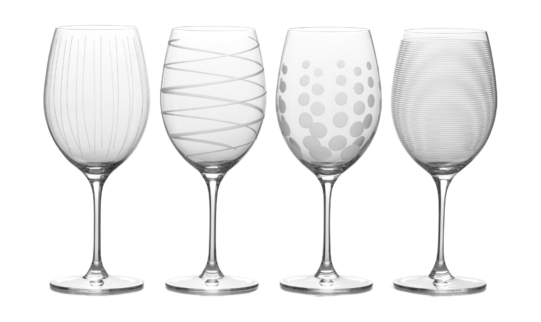 Mikasa Cheers Bordeaux Red Wine Glass, 24-Ounce, Set of 4