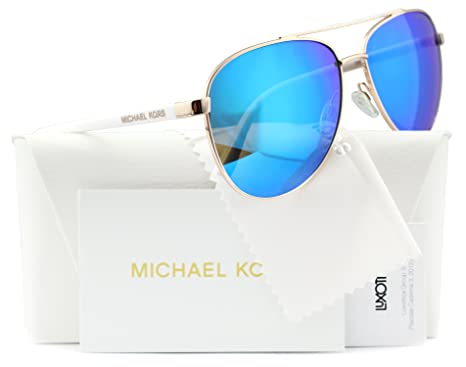 d2879cff67 Michael Kors Hvar Sunglasses MK5007 Rose Gold   Blue Mirror 1045 25 59mm