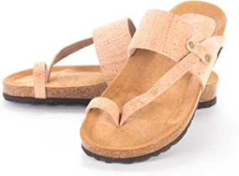 Artelusa Vegan Natural Cork Sandals Made in Portugal Light Cork