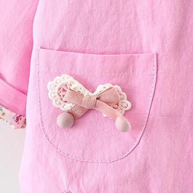 fe47b72c6 Amazon.com  iumei Infant Spring Jacket Girls Lovely Trench Coat 4 ...