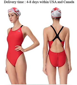 One Piece Training Swimsuit PBT Polyester Endurance Swimsuit
