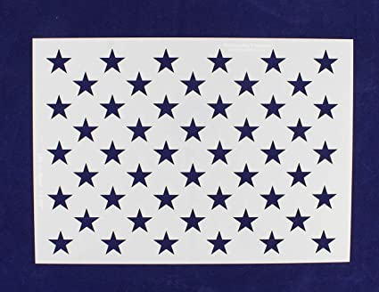 50 Star Field Stencil American Flag G Spec 10 5 X 14 82 Inches