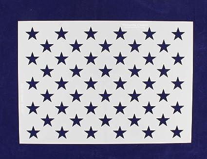 Amazon Com 50 Star Field Stencil 14 Mil Us G Spec 10 5 X 14 82