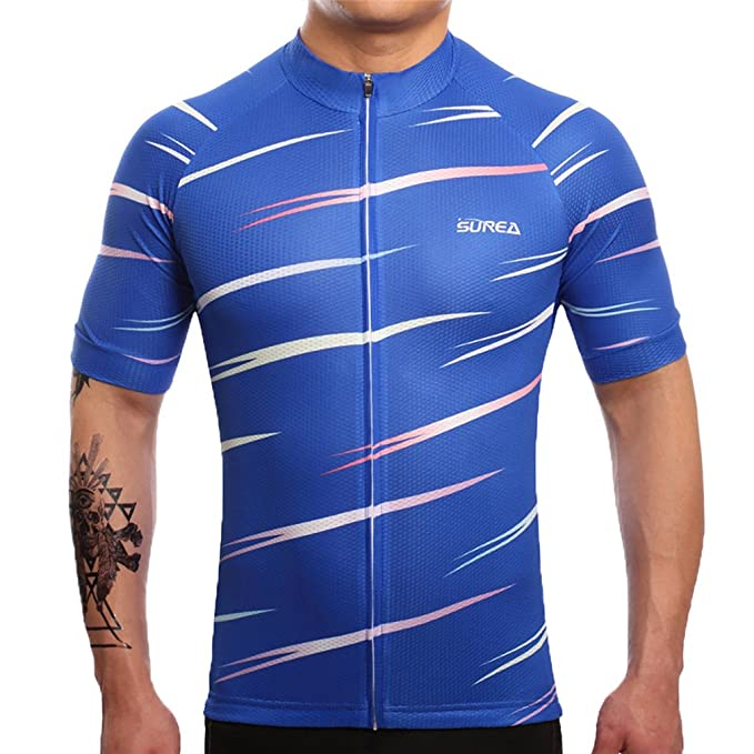 e27a70524 Nawing Cycling Jersey Short Sleeve Blue Shirt Summer Exercise Bicycle  Clothing