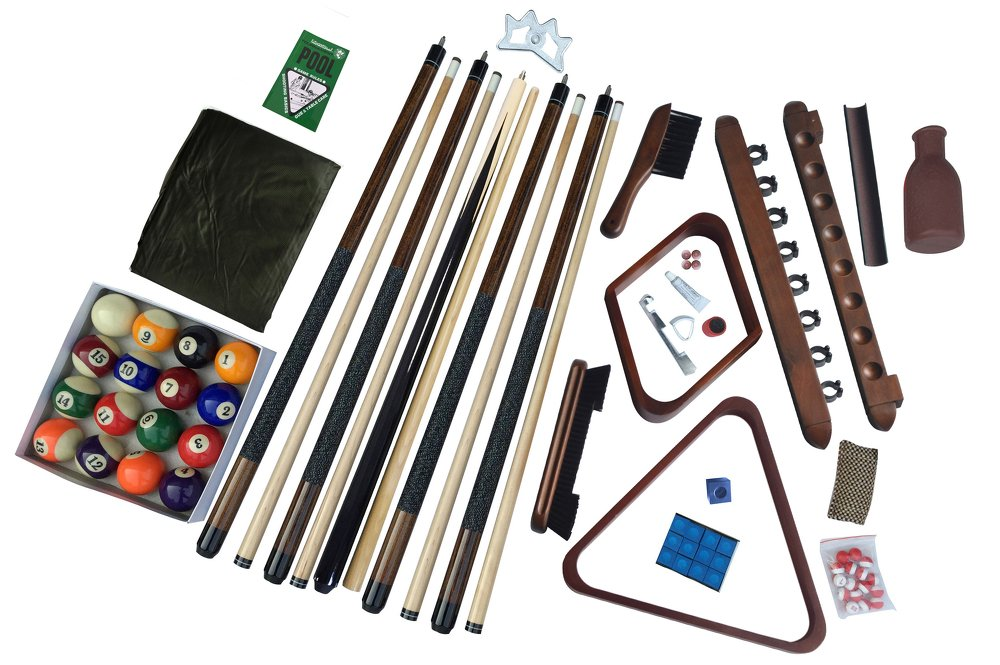 Deluxe Billiards Accessory Kit - Walnut by Carmelli