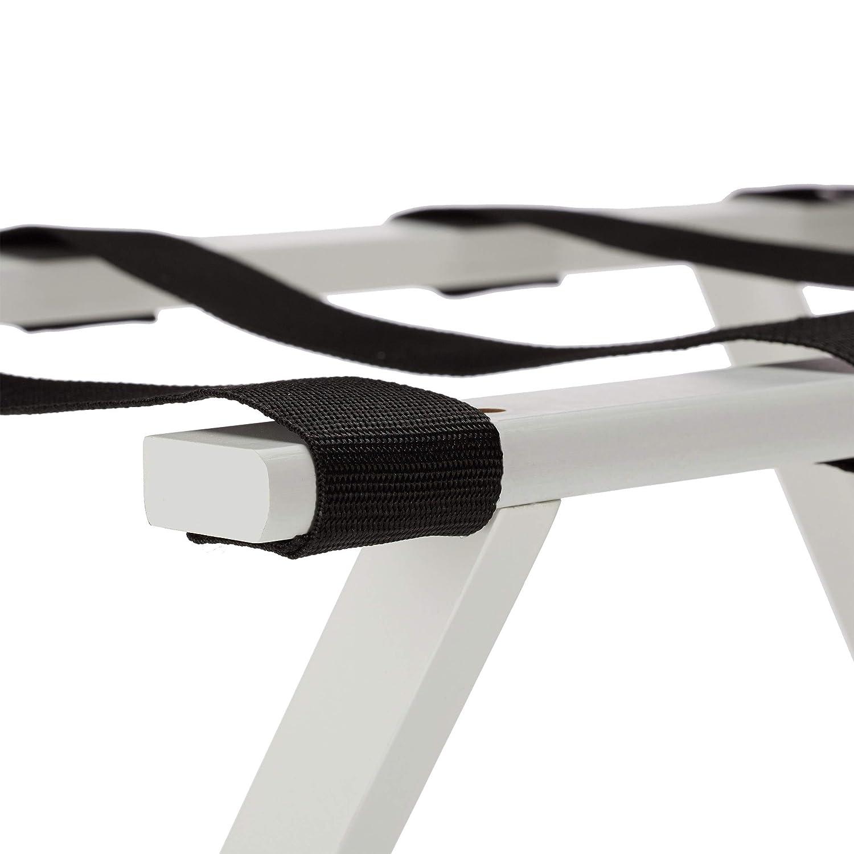 per valigie e Bagagli Relaxdays Supporto Pieghevole in bamb/ù Colore: Bianco 53,5 x 58 x 36,5 cm
