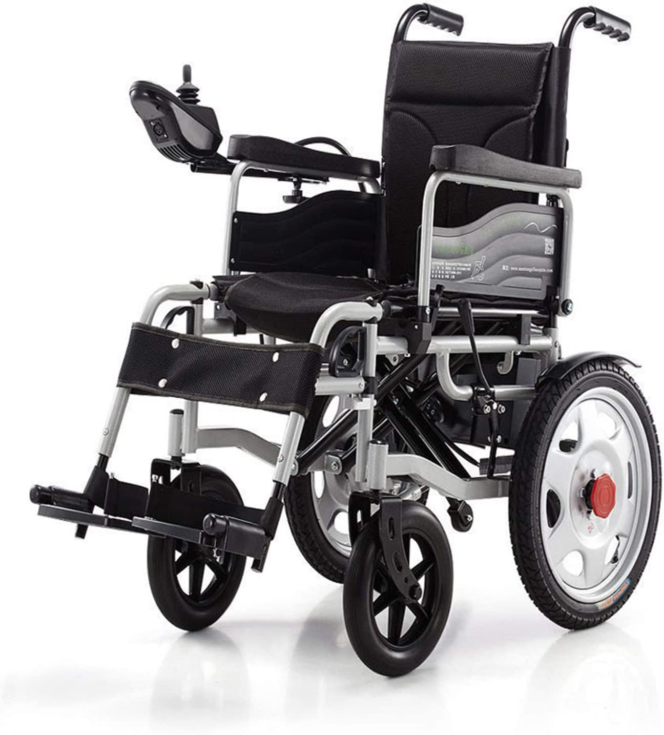 WZCXYX Silla de Ruedas eléctrica Plegable, Motor de Alta Potencia de 500W / kilometraje de 15 km, Modo Doble Manual eléctrico Black 115 * 62 * 93cm