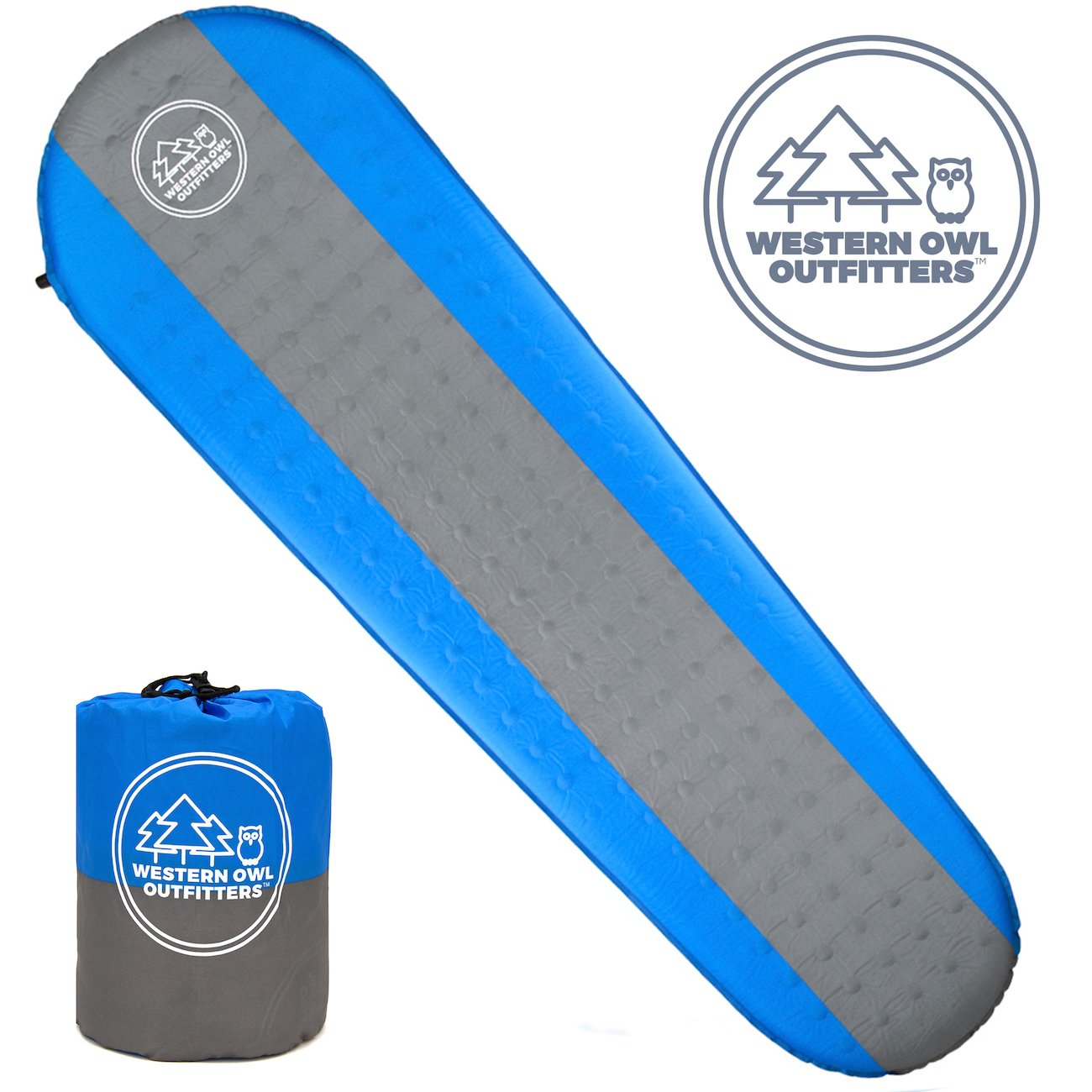 Best Self Inflating Sleeping pad Lightweight Camping Foam pad- Best for Camping Backpacking & Hiking. R Value of 4.9 - Inflatable Camping Mattress by Roman Trail Outfitters