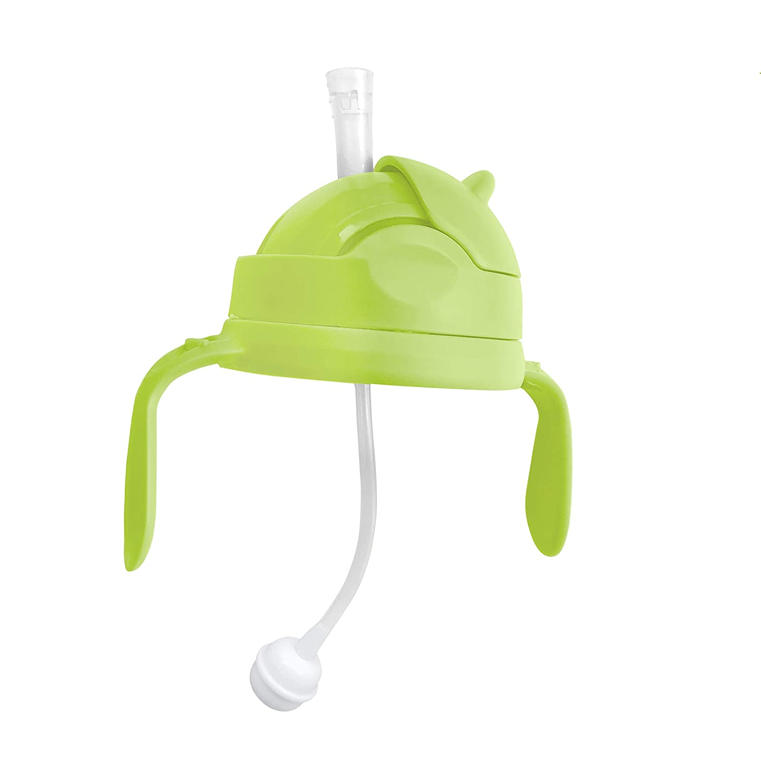 3-in-1 Straw Sippy Cup Conversion Kit for Comotomo Baby Bottle, 5 Ounce and 8 Ounce (Weighted Straw, Green)