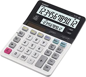 Casio DV-220 Standard Function Calculator with Dual Display, White/Black