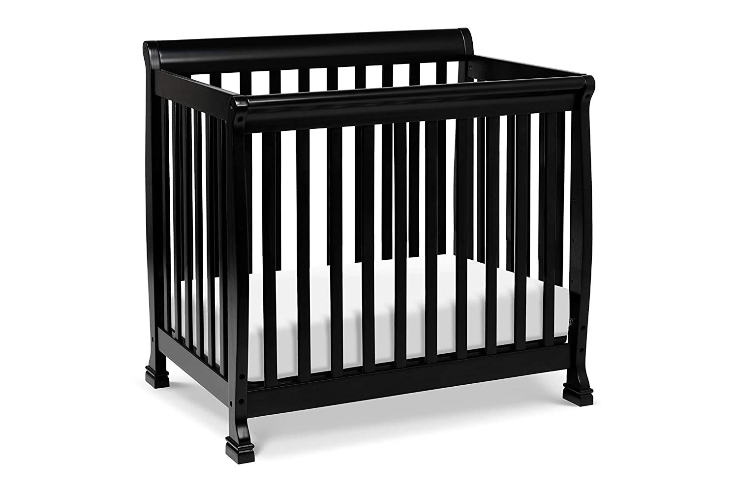 Amazon Com Davinci Kalani 2 In 1 Mini Crib And Twin Bed In Ebony