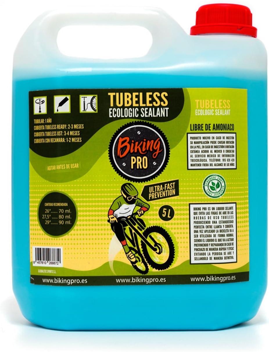 Biking Pro Líquido tubeless. Botella de 5 litros. Gama Ecologic ...