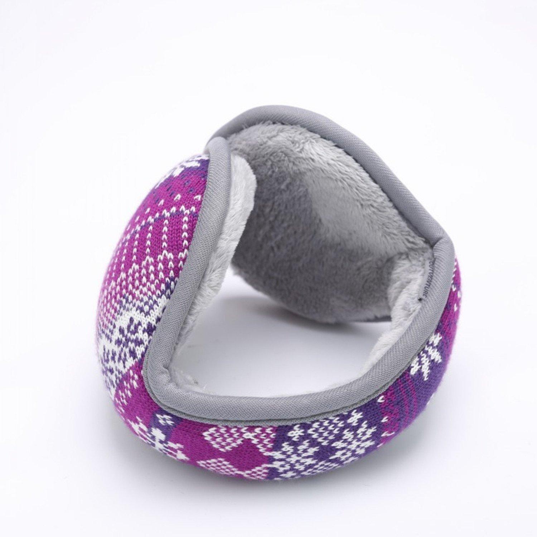 Outdoor Exposure and Thicken Earmuffs Ear Cover Unisex Foldable Ear Warmers Polar Fleece Winter EarMuffs Color Purple by YADEER (Image #2)