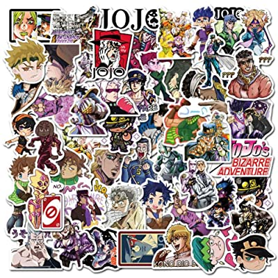 Salemor 50 Pcs JoJo's Bizarre Adventure Sticker Personality Travel Trolley Sticker PVC Anime Waterproof Car Sticker Doodle Decal Anime Fans Gifts(Style2): Arts, Crafts & Sewing