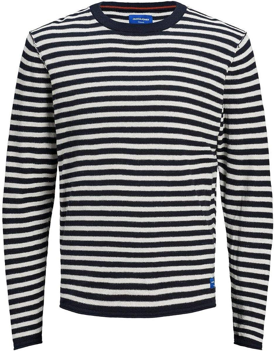 Jack /& Jones Jorkenvin Knit Crew Neck Sweater Homme